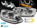 Paire de feux phares VW Polo 6R 09-14 led U-Type chrome