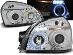 Paire de feux phares Hyundai Tucson 04-10 angel eyes chrome
