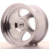 "Jante JAPAN RACING JR15 16"" x 9"" Multi Perçage ET 20 Silver Machined Face"