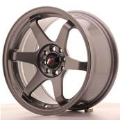 "Jante JAPAN RACING JR3 16"" x 8"" 4x108 4x100 ET 25 Gun metal"