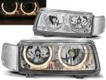 Paire de feux phares VW Passat B4 93-97 angel eyes chrome