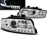 Paire de feux phares Audi A4 00-04 Daylight LTI DRL chrome led