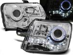 Paire de feux phares Fiat Panda 03-08 Daylight led chrome