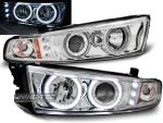 Paire de feux phares Mitsubishi Galant Angel eyes CCFL 96-06 chrome