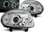 Paire de feux phares Renault Clio 2 98-01 angel eyes chrome