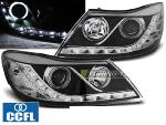 Paire de feux phares Skoda Octavia 09-12 Angel eyes CCFL led noir
